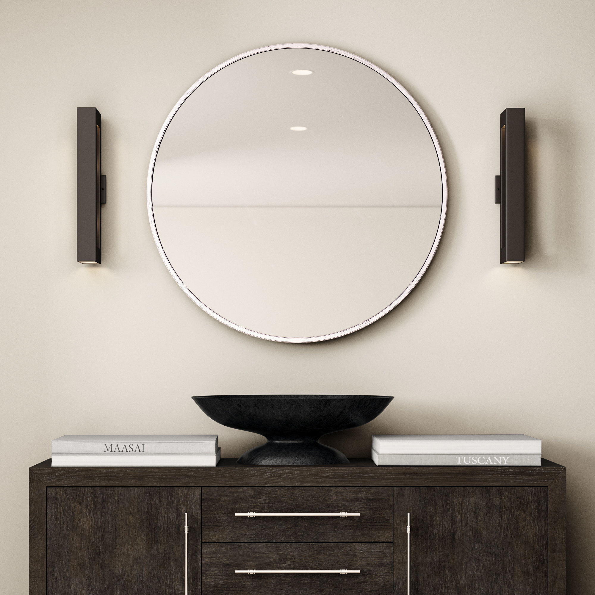 Needville Modern & Contemporary Accent Mirror With Regard To Gaunts Earthcott Modern & Contemporary Beveled Accent Mirrors (Image 17 of 20)