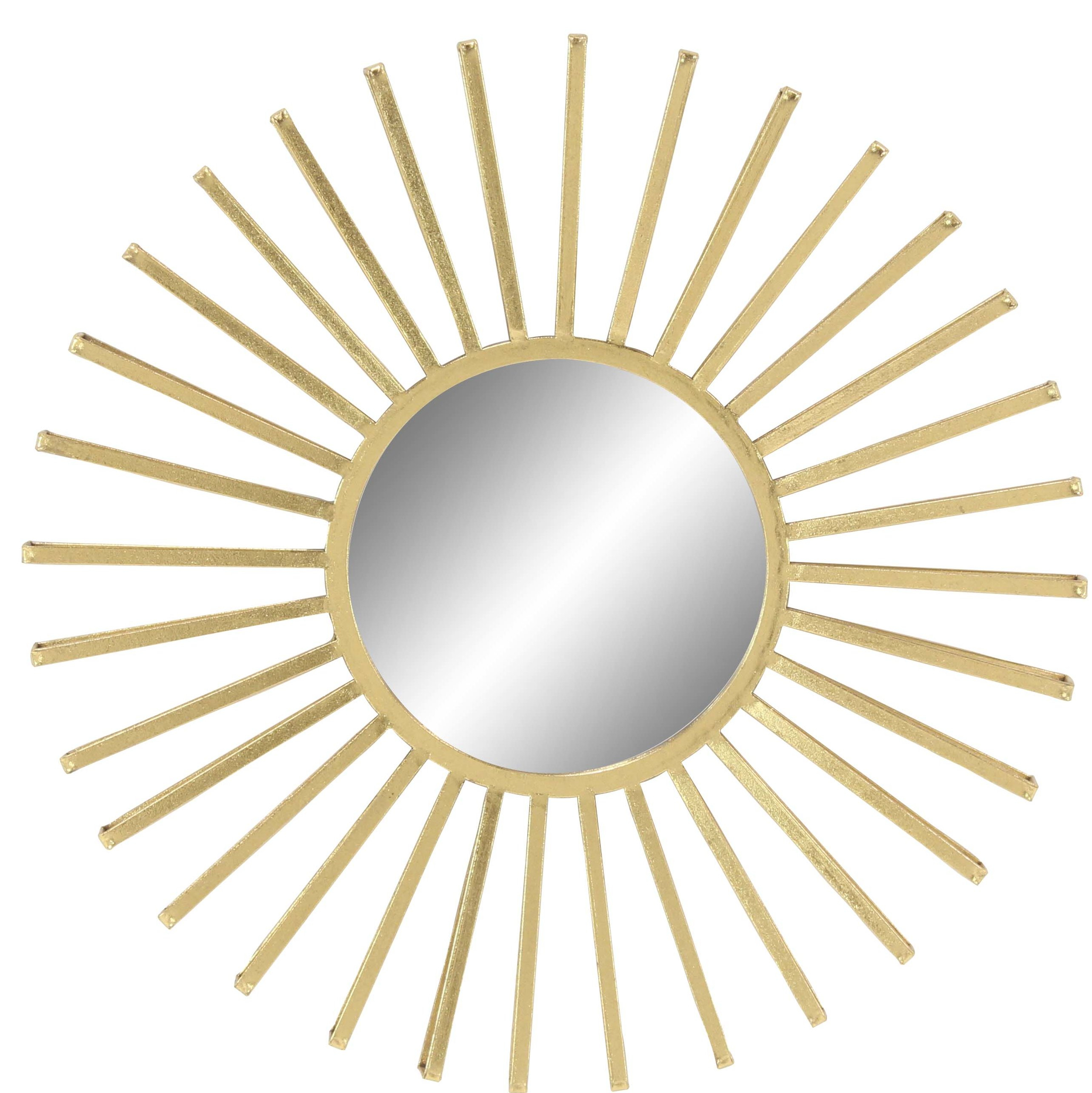 Neetu Modern Sun Accent Mirror In Orion Starburst Wall Mirrors (Image 9 of 20)