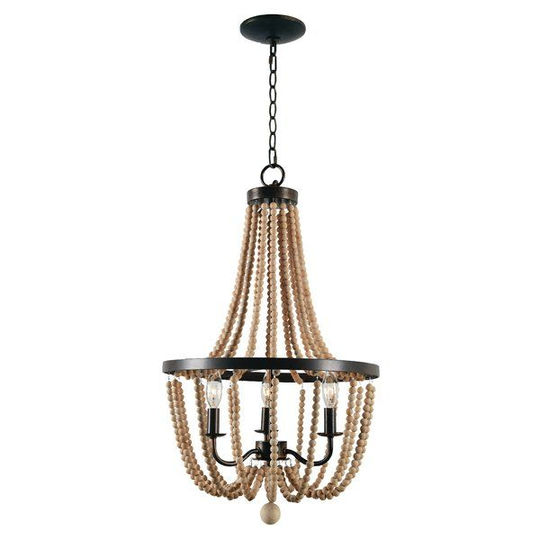 Nehemiah 3 Light Empire Chandelier | House | Empire For Nehemiah 3 Light Empire Chandeliers (View 3 of 20)