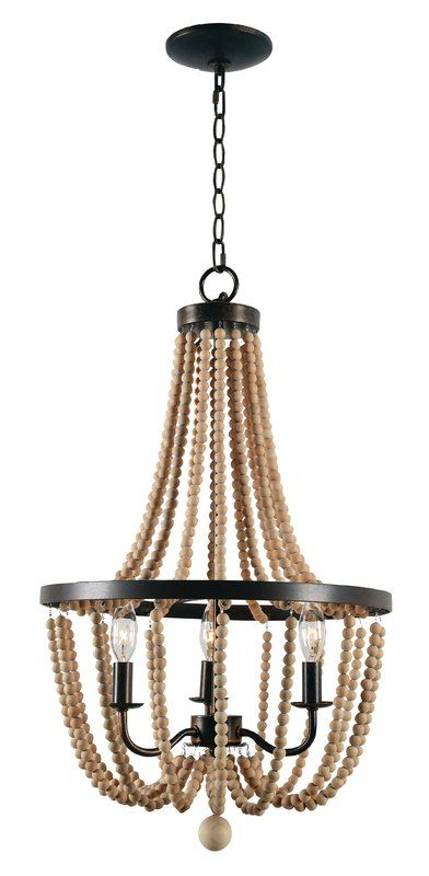 Nehemiah 3 Light Empire Chandelier | Lighting In 2019 | Wood Inside Nehemiah 3 Light Empire Chandeliers (View 6 of 20)