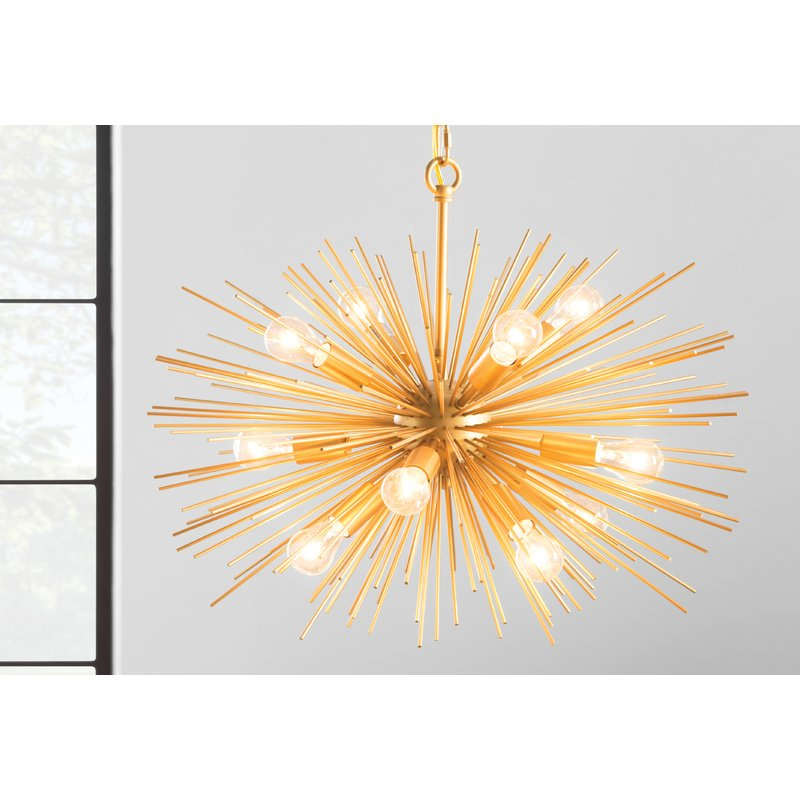 Nelly 12 Light Sputnik Chandelier For Asher 12 Light Sputnik Chandeliers (View 8 of 20)