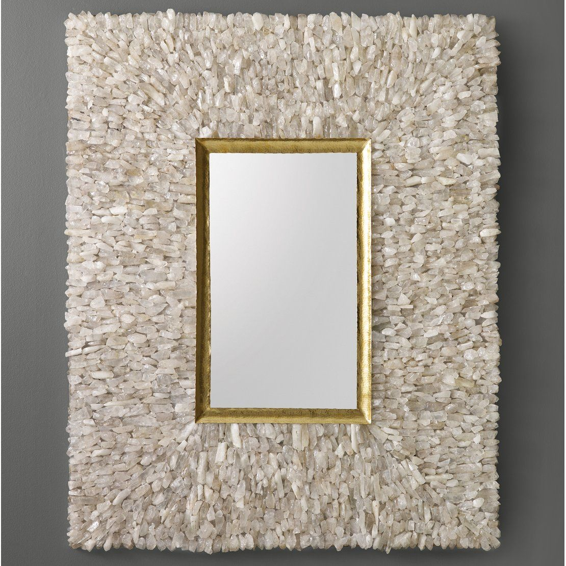 Neoteric Crystal Wall Mirror Glitz Floral Modern Rectangle Inside Sajish Oval Crystal Wall Mirrors (View 10 of 20)
