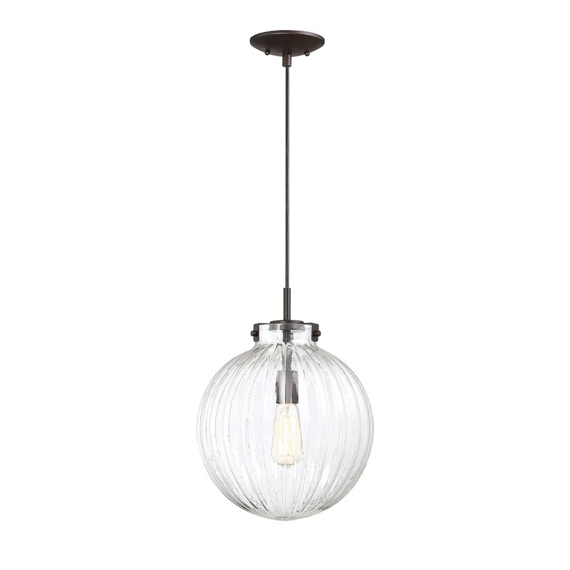 Nevels 1 Light Single Globe Pendant For Bundy 1 Light Single Globe Pendants (View 21 of 25)