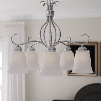 Newent 5 Light Shaded Chandelier In 2019 | Kitchen Regarding Newent 5 Light Shaded Chandeliers (View 4 of 20)