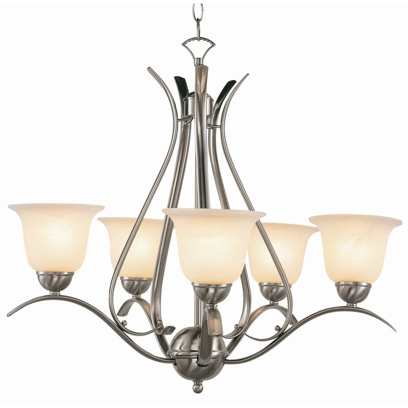 Featured Image of Newent 5 Light Shaded Chandeliers