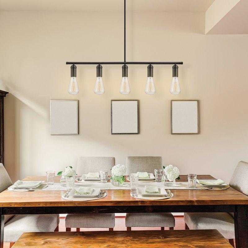 Featured Image of Novogratz Vintage 5 Light Kitchen Island Bulb Pendants