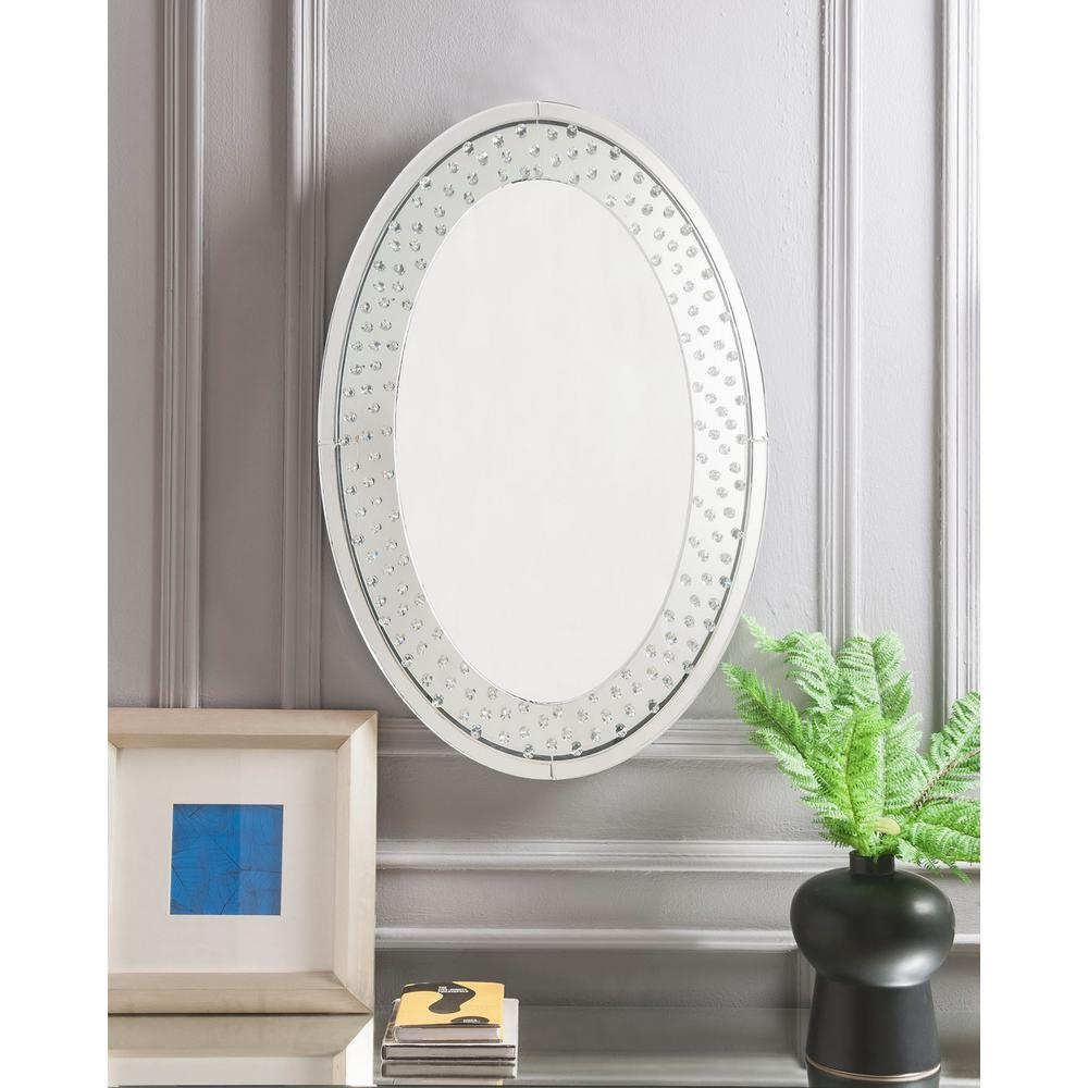 Nysa Mirrored And Faux Crystals Accent Mirror With Modern & Contemporary Beveled Accent Mirrors (View 15 of 20)