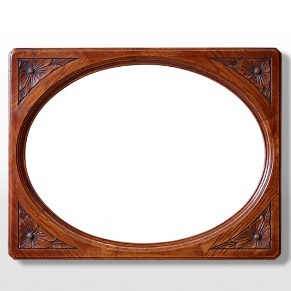 Oc2990 Oval Wall Mirror – Old Charm Furniture – Wood Bros Intended For Oval Wood Wall Mirrors (View 13 of 20)