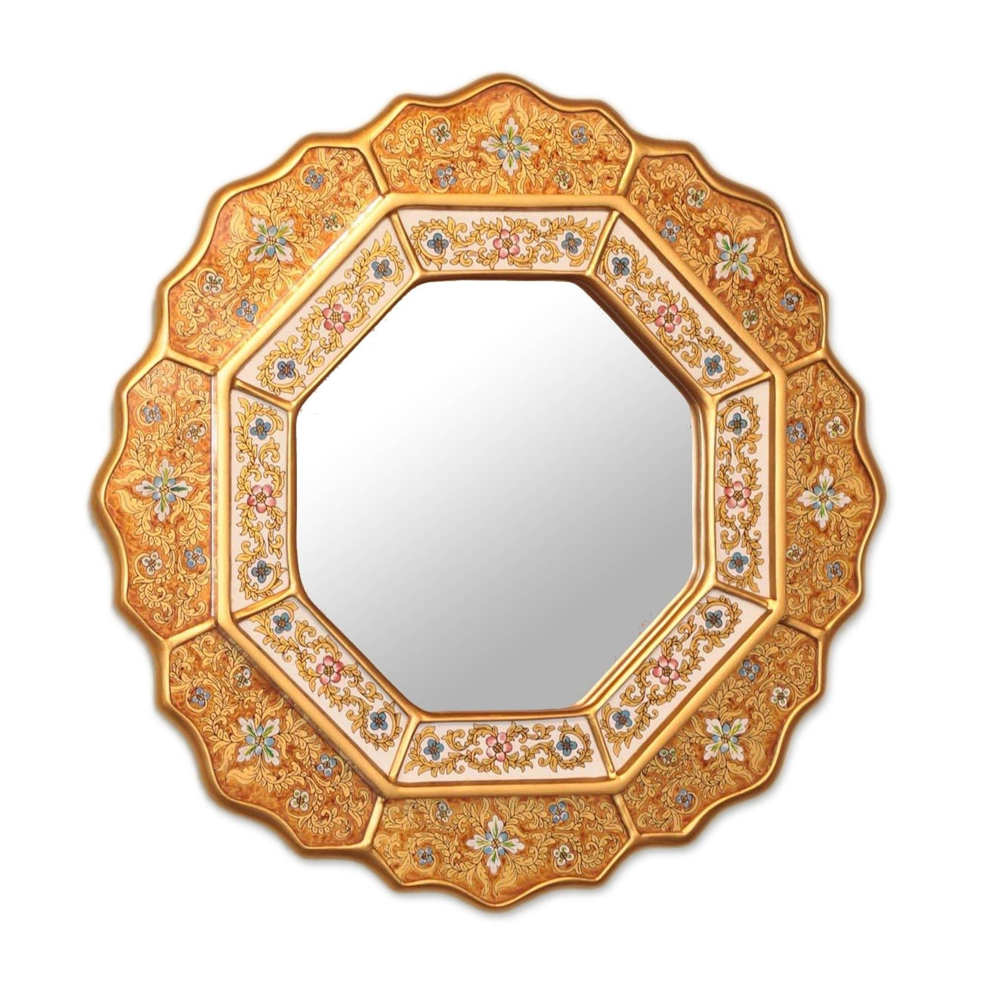 Octagon Mirrors | Shop Online At Overstock Throughout Gia Hexagon Accent Mirrors (Image 18 of 20)