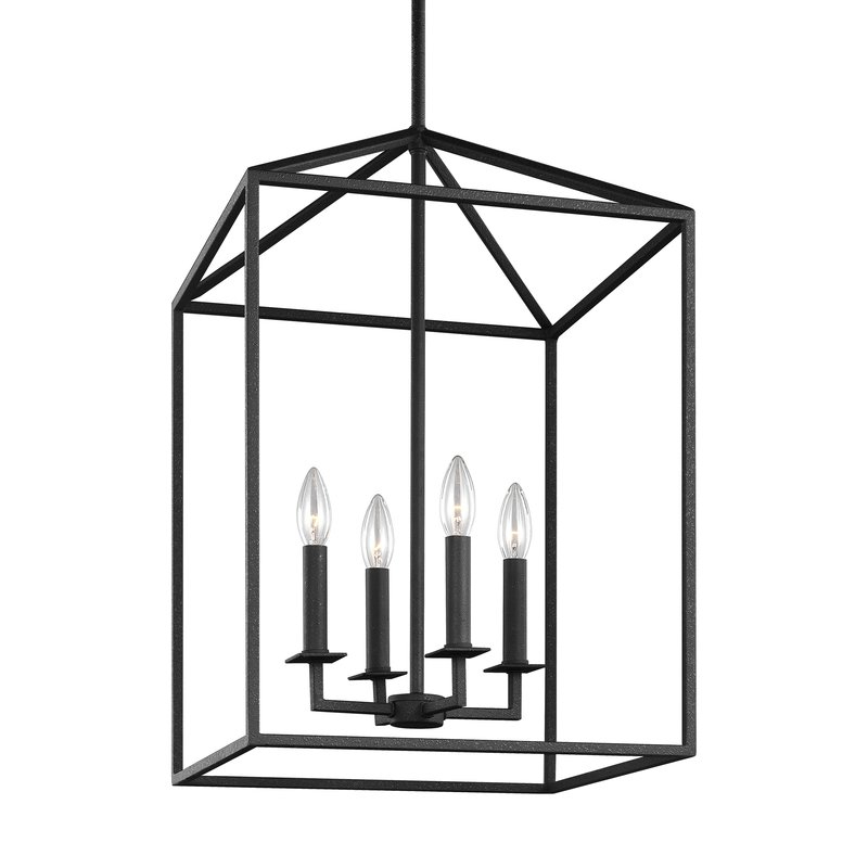 Odie 4 Light Lantern Square/rectangle Pendant Within 4 Light Lantern Square / Rectangle Pendants (Image 14 of 20)