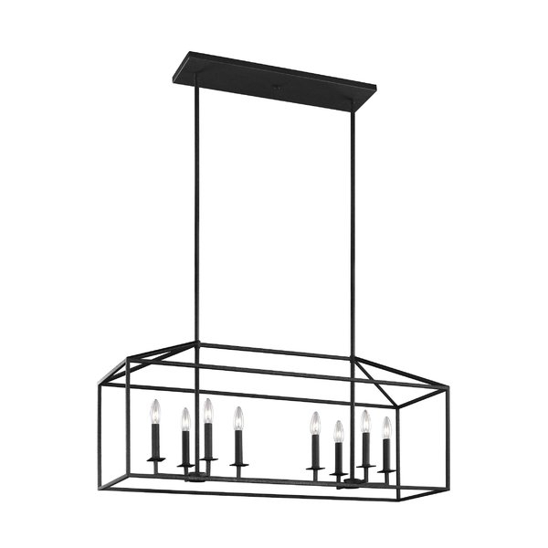 Odie 8 Light Kitchen Island Square / Rectangle Pendant In Odie 8 Light Kitchen Island Square / Rectangle Pendants (View 5 of 25)