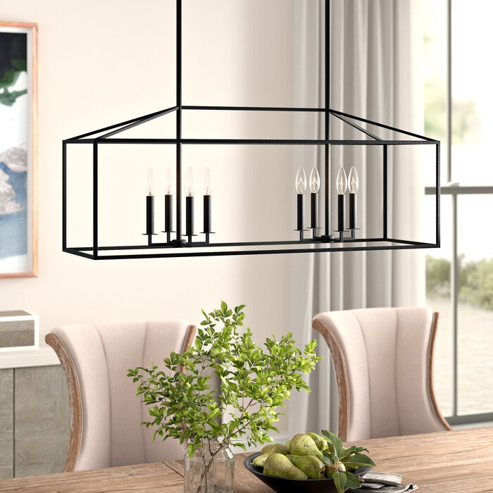 Featured Image of Odie 8 Light Kitchen Island Square / Rectangle Pendants