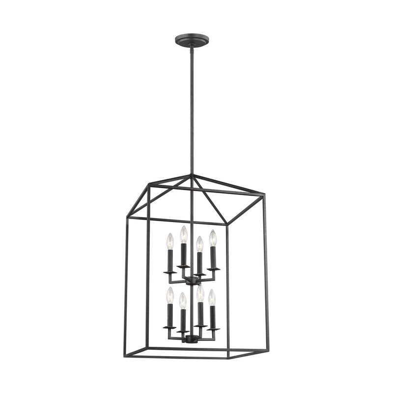 Odie 8 Light Lantern Tiered Pendant Intended For Carmen 8 Light Lantern Tiered Pendants (View 17 of 20)