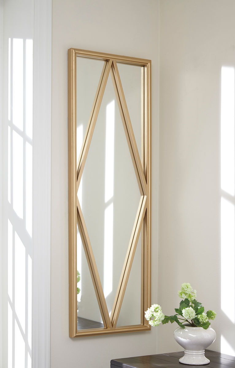 Offa – Gold Finish – Accent Mirror Intended For Grid Accent Mirrors (Image 17 of 20)