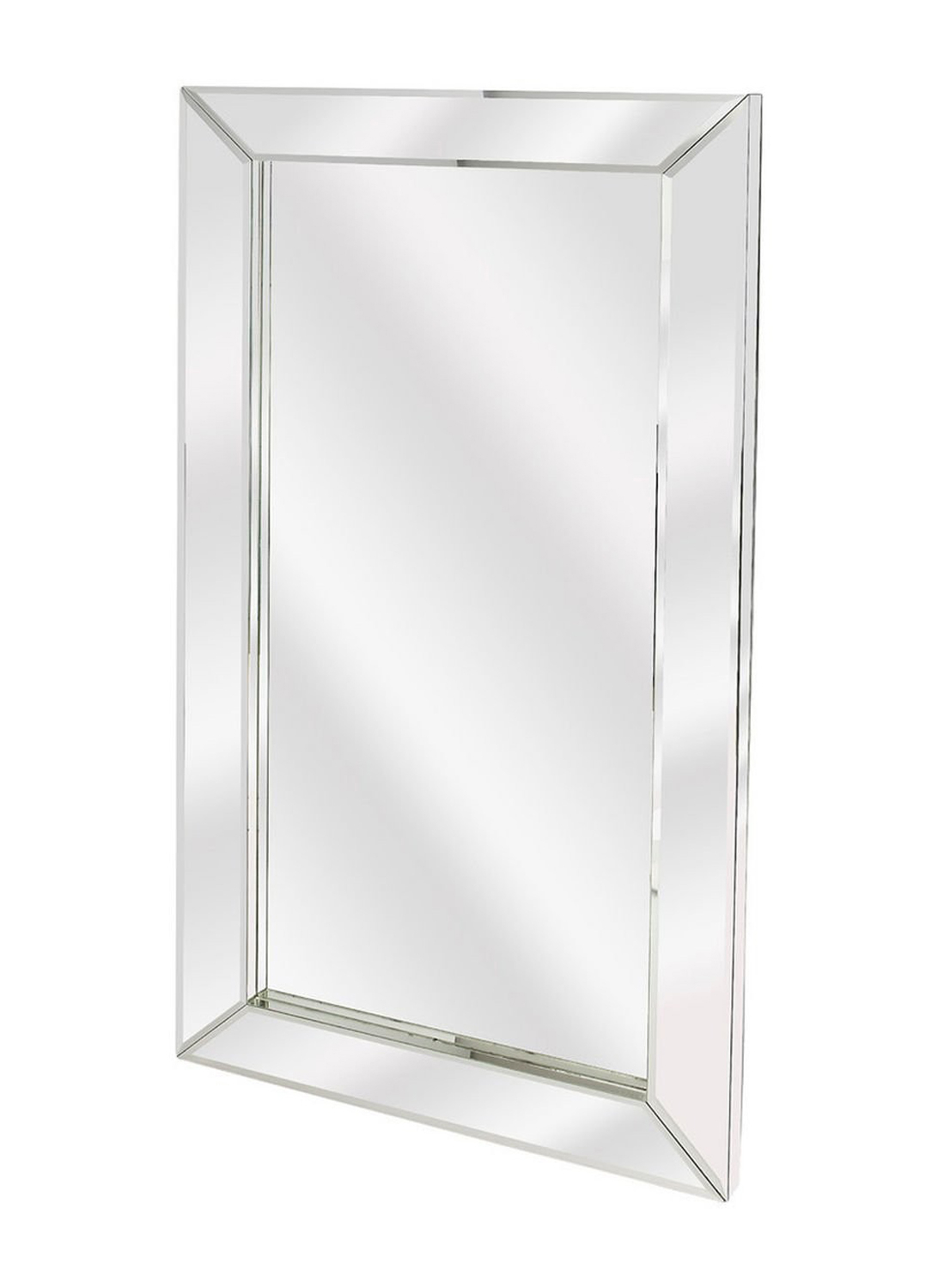 Offex Modern Rectangular Emerson Mirrored Wall Mirror – Clear – Clear Pertaining To Modern Rectangle Wall Mirrors (View 7 of 20)