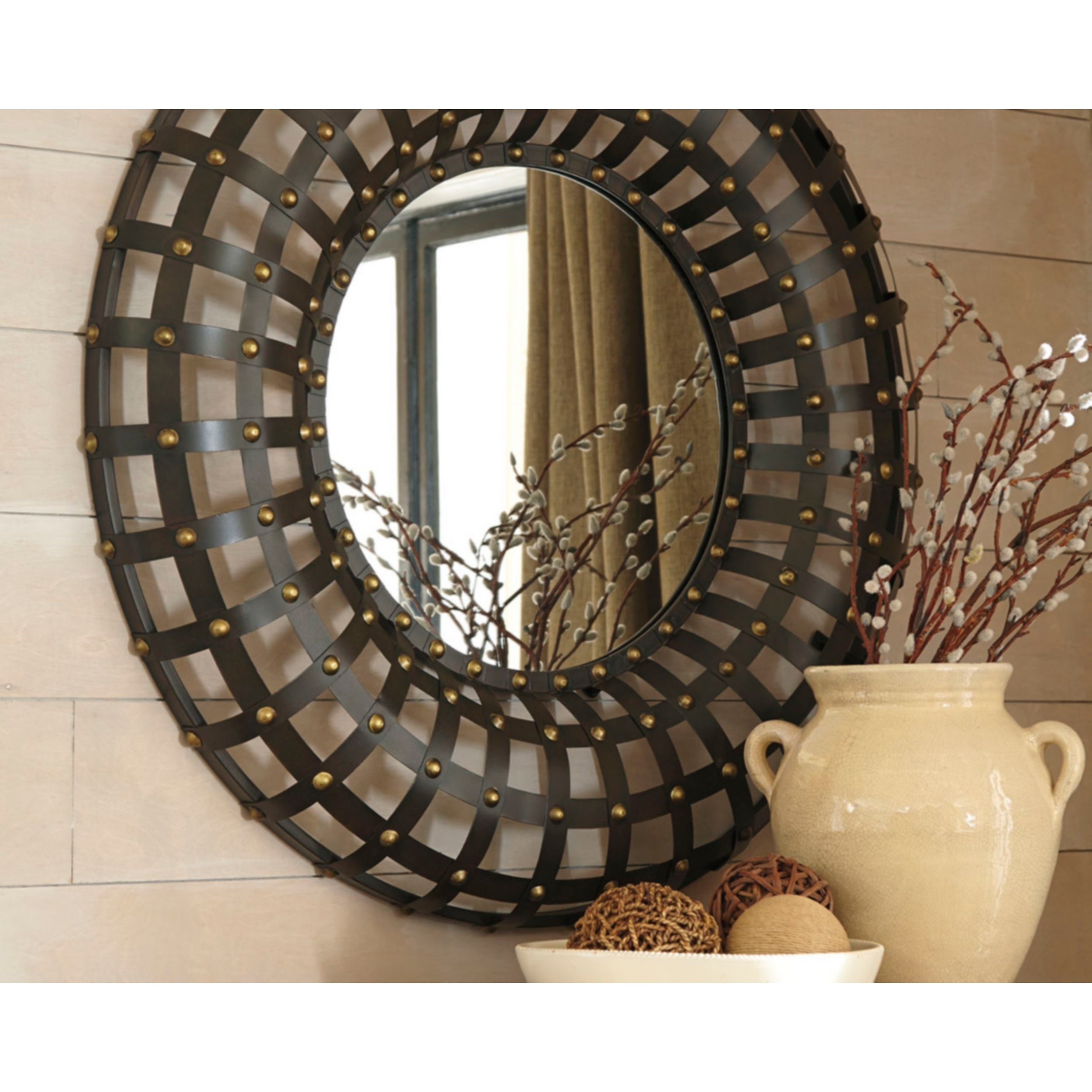 Ogier Accent Mirror – Brown/gold Intended For Ogier Accent Mirrors (Image 14 of 20)
