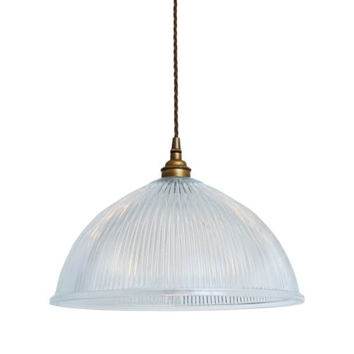 Old School Electric – Dome Prismatic Pendant Light – Large For Amara 2 Light Dome Pendants (View 12 of 25)