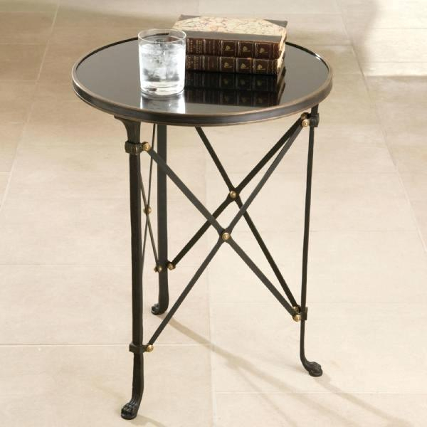 Olivia Mirrored Side Table 30 Round Inch – Angusberwick In Silver Orchid Olivia Glam Mirrored Round Cocktail Tables (Image 10 of 50)