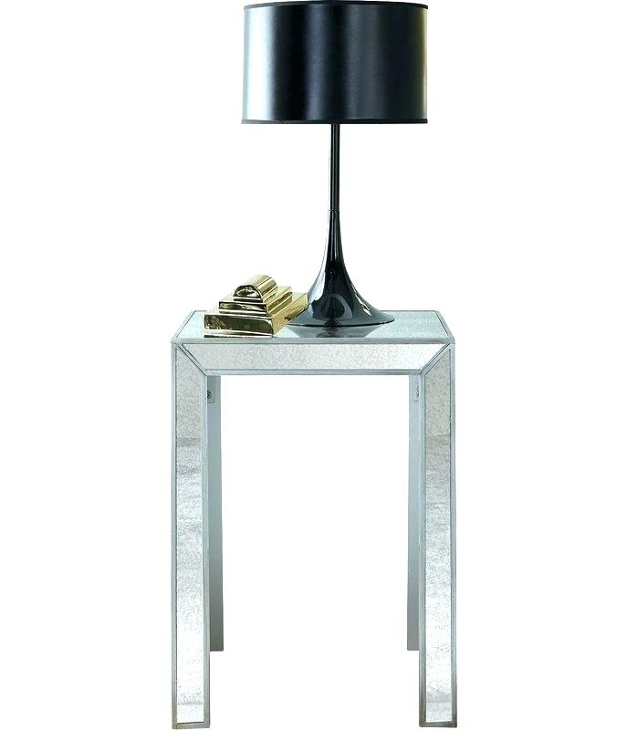 Olivia Mirrored Side Table 30 Round Inch – Angusberwick Intended For Silver Orchid Olivia Glam Mirrored Round Cocktail Tables (View 16 of 50)
