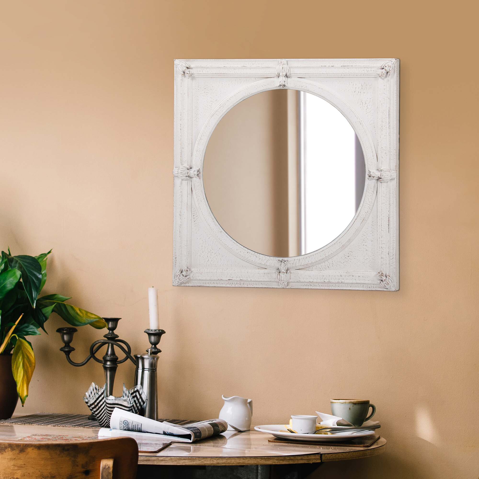 One Allium Way Conan Square Beveled Accent Mirror & Reviews For Arrigo Accent Mirrors (View 10 of 20)