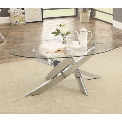 Orren Ellis Belgica Coffee Table | Products In 2019 Within Carmella Satin Plated Coffee Tables (View 9 of 50)
