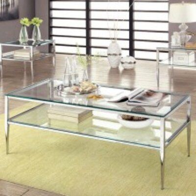 Orren Ellis Kaneshiro Coffee Table With Storage | Products In Strick & Bolton Florence Chrome Coffee Tables (Image 6 of 25)