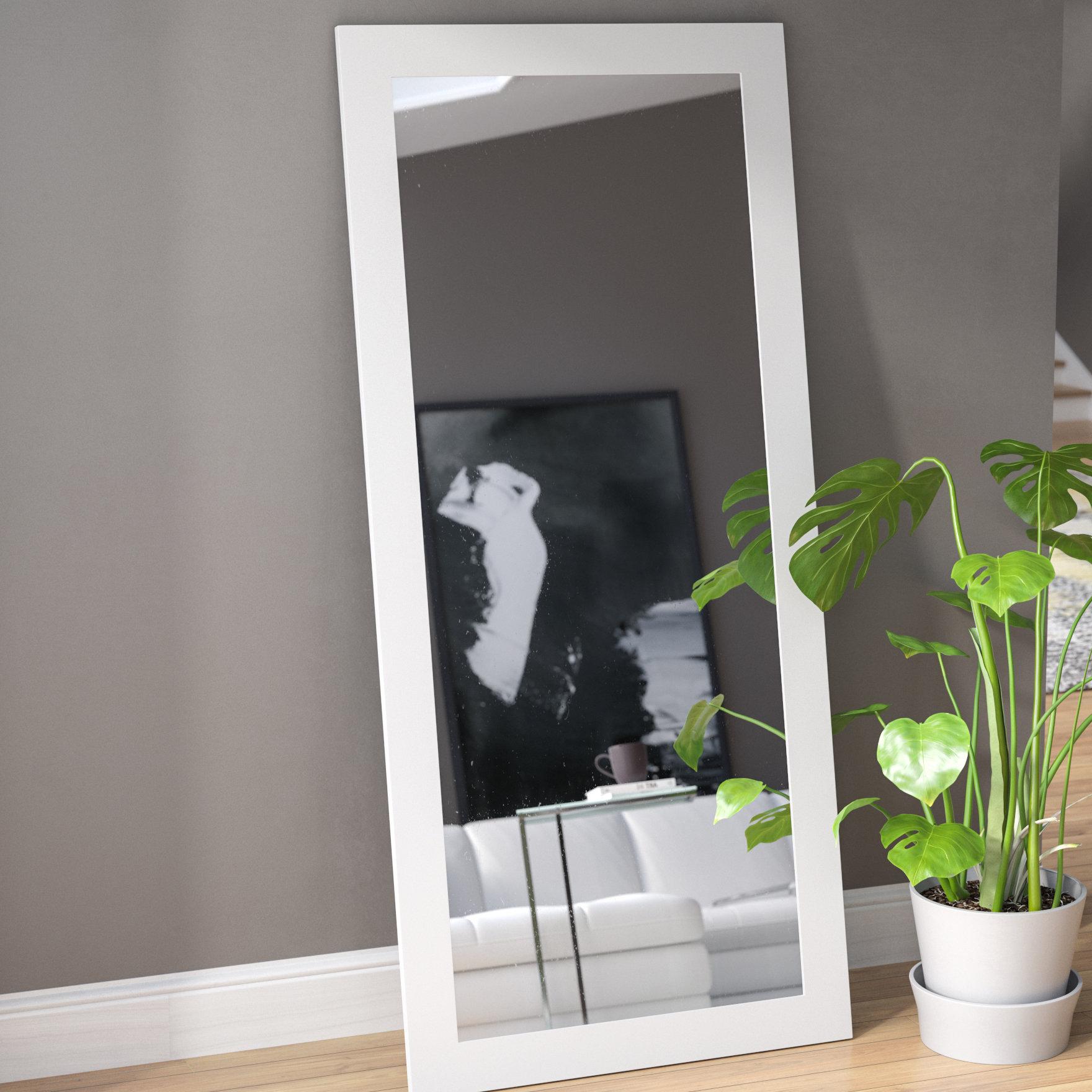 Orren Ellis Polzin Full Length Mirror & Reviews | Wayfair Inside Dalessio Wide Tall Full Length Mirrors (Image 17 of 20)