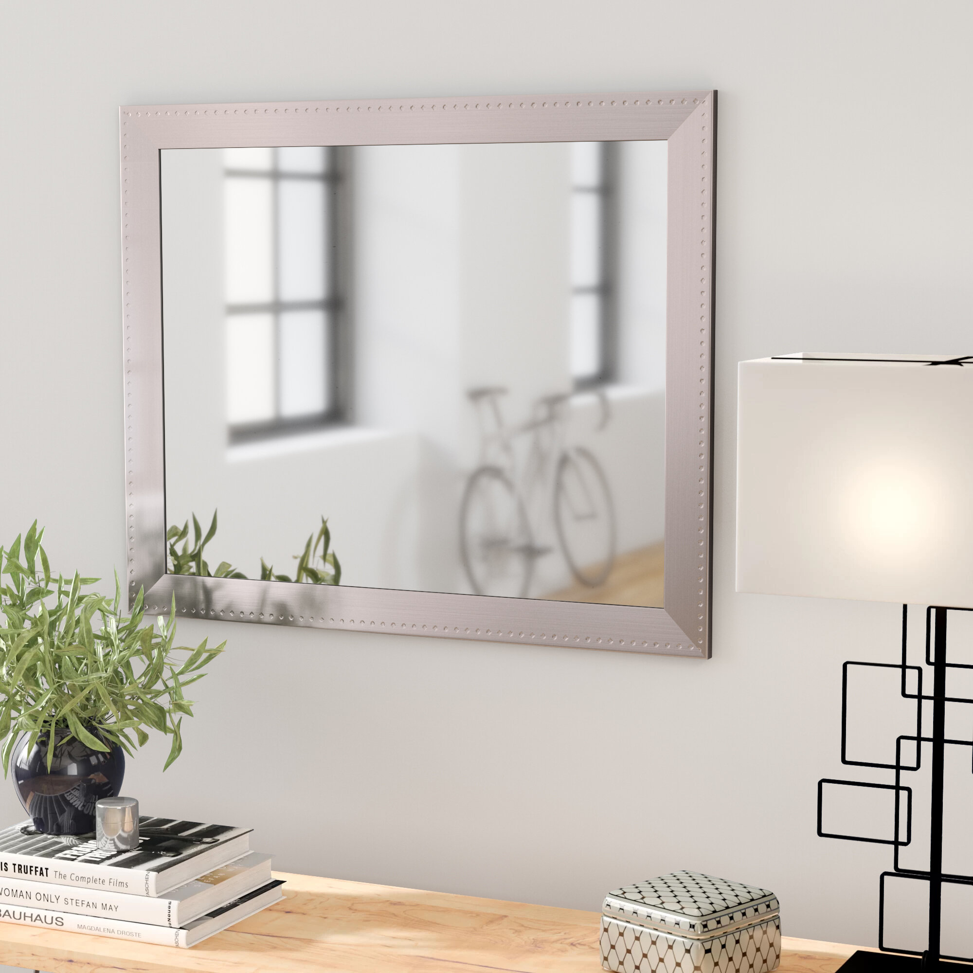 Orren Ellis Woodruff Modern & Contemporary Accent Mirror With Sartain Modern & Contemporary Wall Mirrors (View 4 of 20)