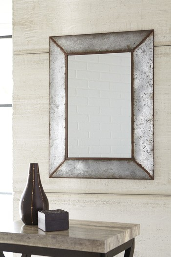 O'tallay – Antique Gray – Accent Mirror For Ogier Accent Mirrors (Image 12 of 20)