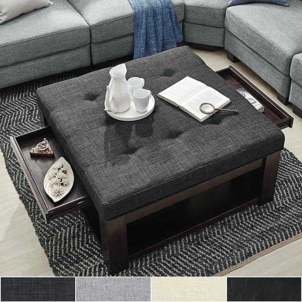 Ottoman Coffee Table Storage – Angeliquebellino (View 22 of 25)