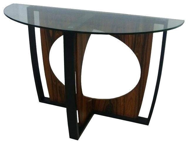 Oval Console Table – Dreamrain Regarding Cohler Traditional Brown Cherry Oval Coffee Tables (View 24 of 25)