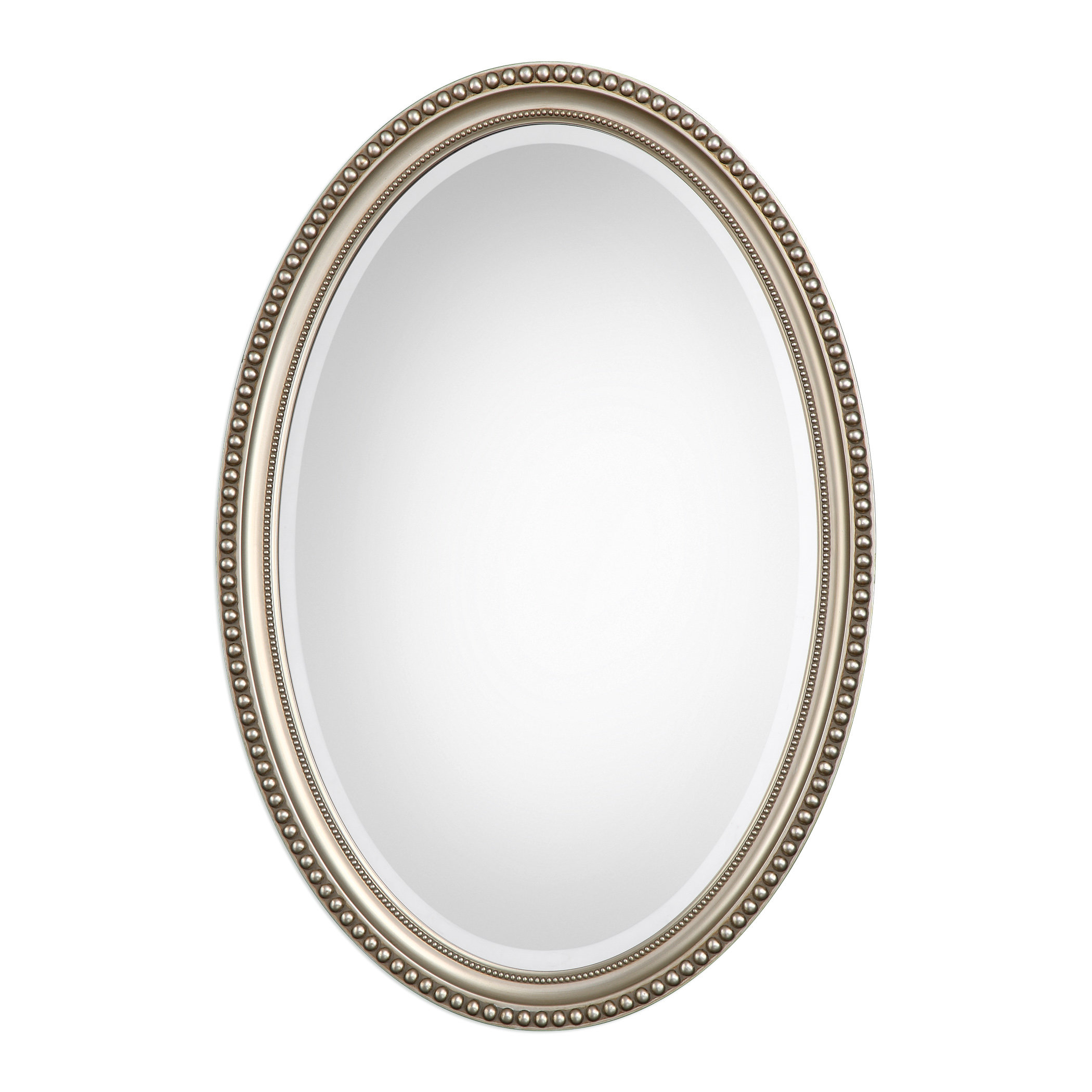 Oval Metallic Accent Mirror Intended For Oval Metallic Accent Mirrors (Image 16 of 20)