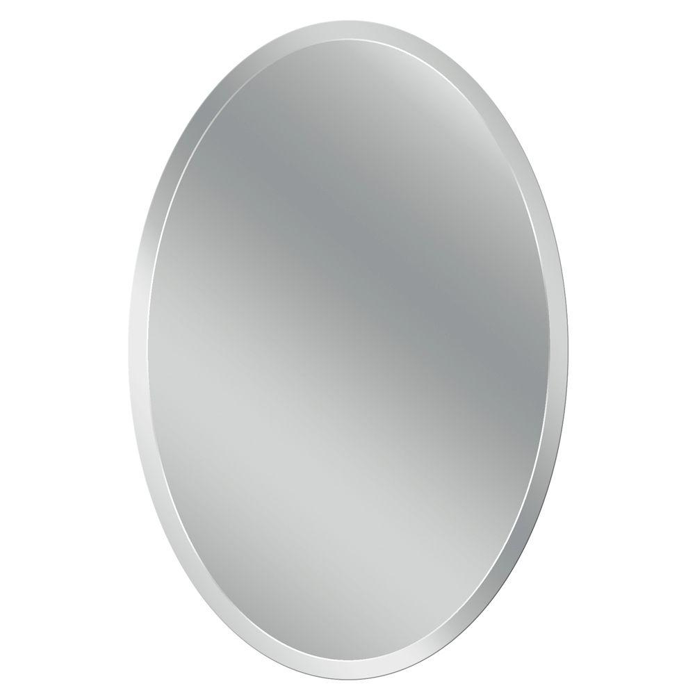 Oval Mirror Beveled Frameless – Mirror Ideas Within Reign Frameless Oval Scalloped Beveled Wall Mirrors (Image 13 of 20)
