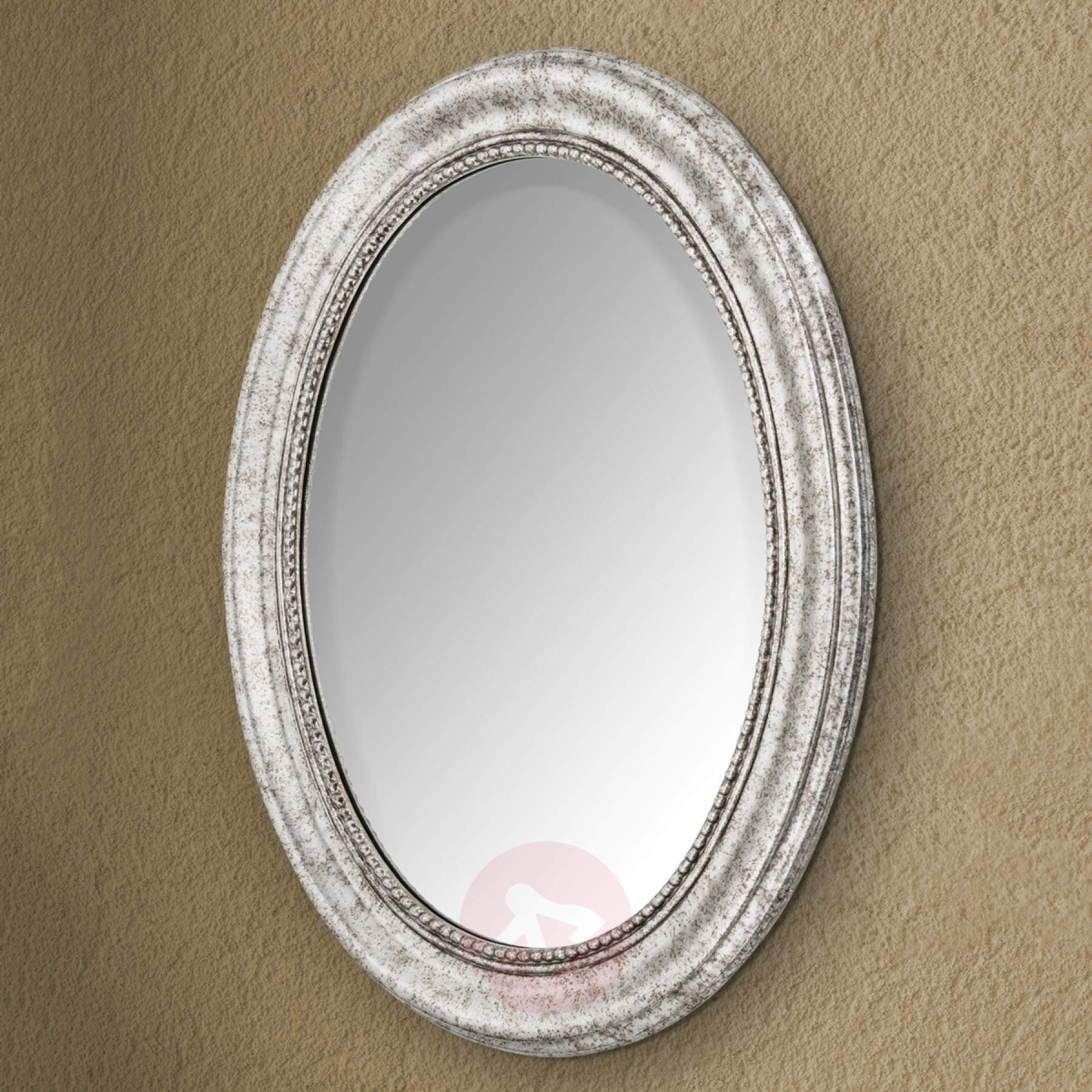 Oval Wall Mirror Willa With Silver Wooden Frame With Oval Wood Wall Mirrors (View 16 of 20)