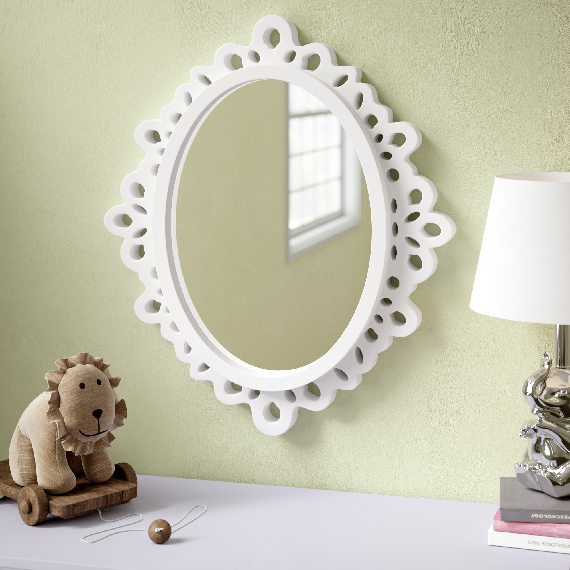 Oval Wood Lace Wall Mirror In Oval Wood Wall Mirrors (View 6 of 20)