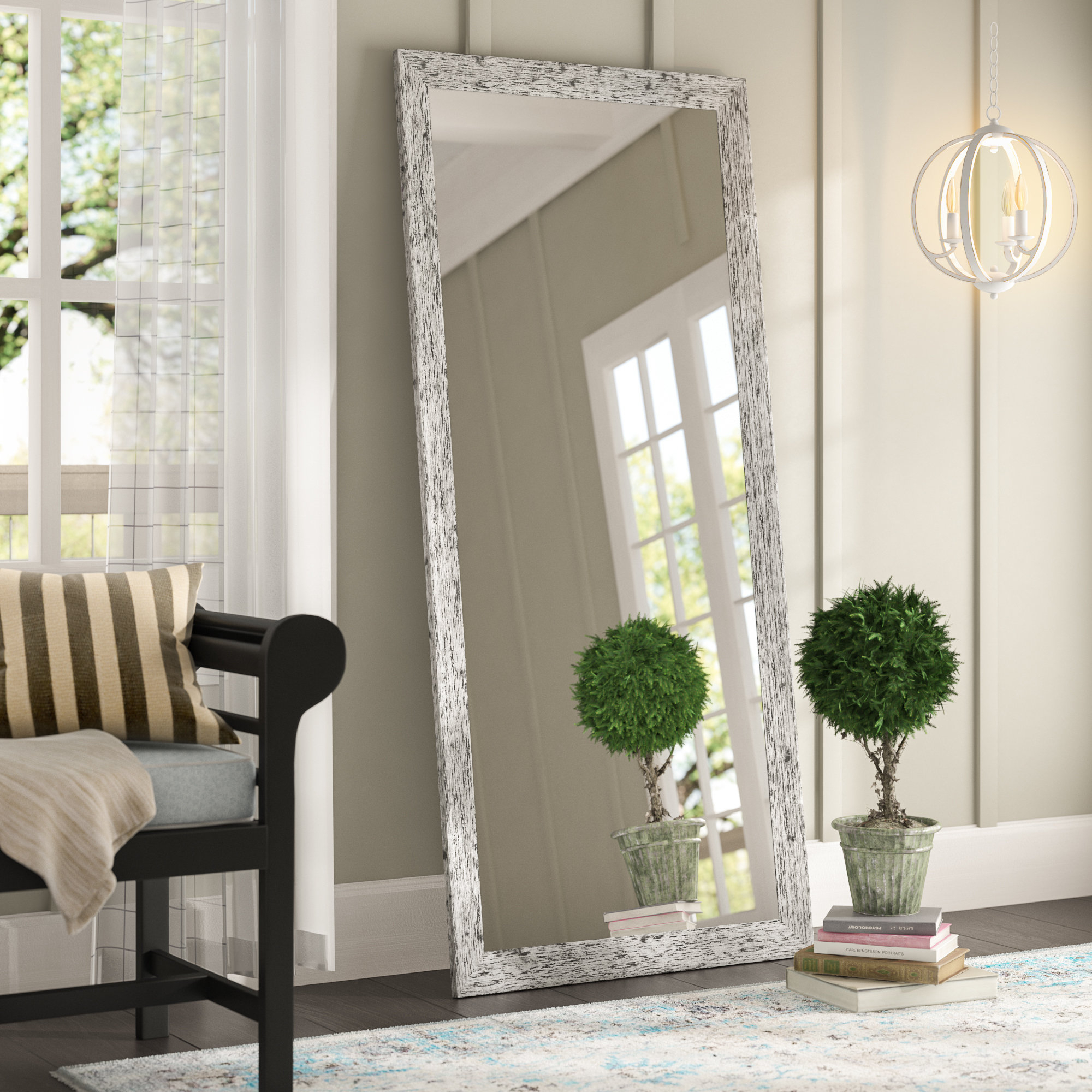 Pandit Full Length Mirror Within Handcrafted Farmhouse Full Length Mirrors (Image 16 of 20)