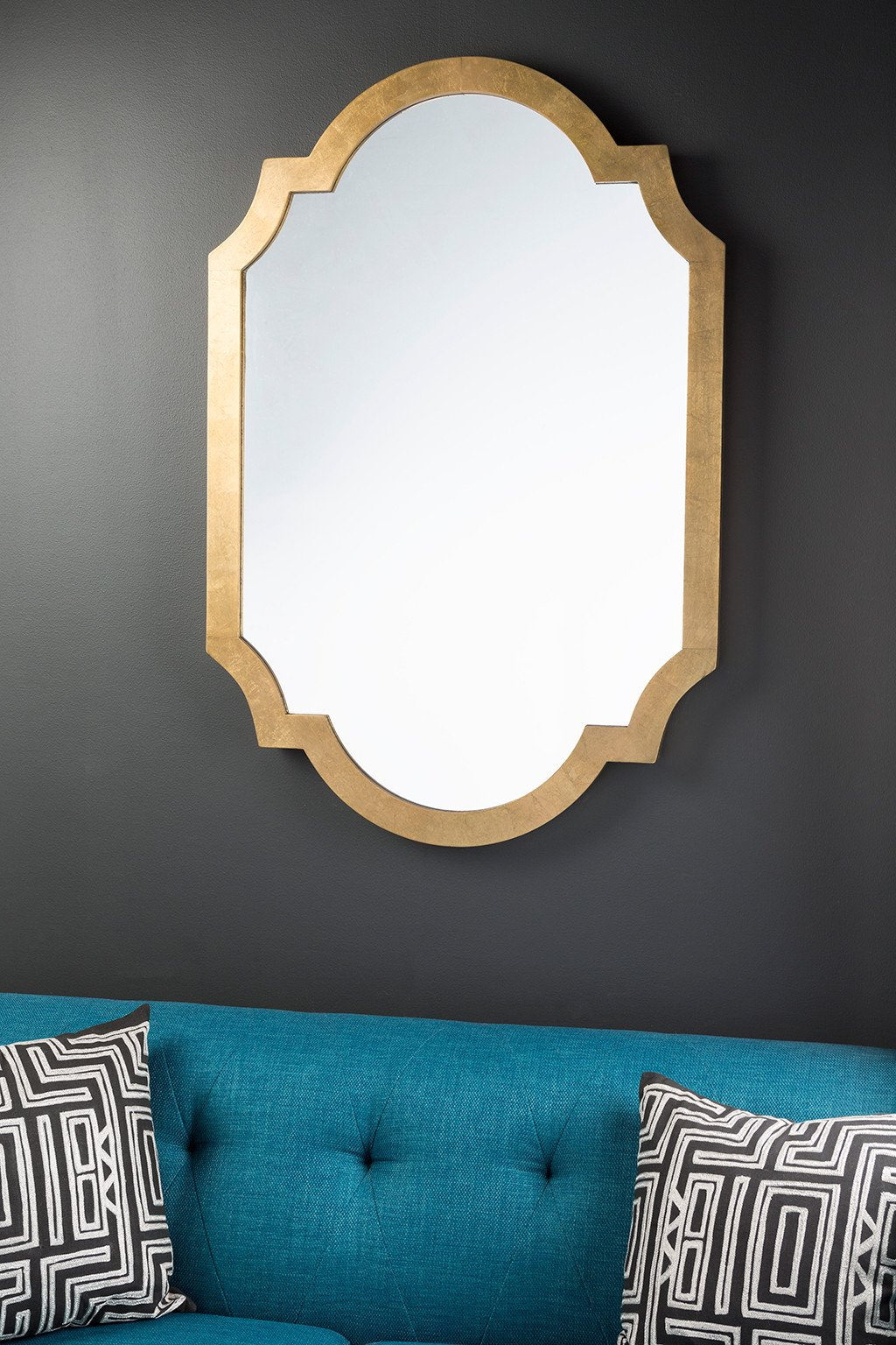 Paris Aged Gold Wall Mirror In 2019 | Products | Moroccan For Broadmeadow Glam Accent Wall Mirrors (View 18 of 20)