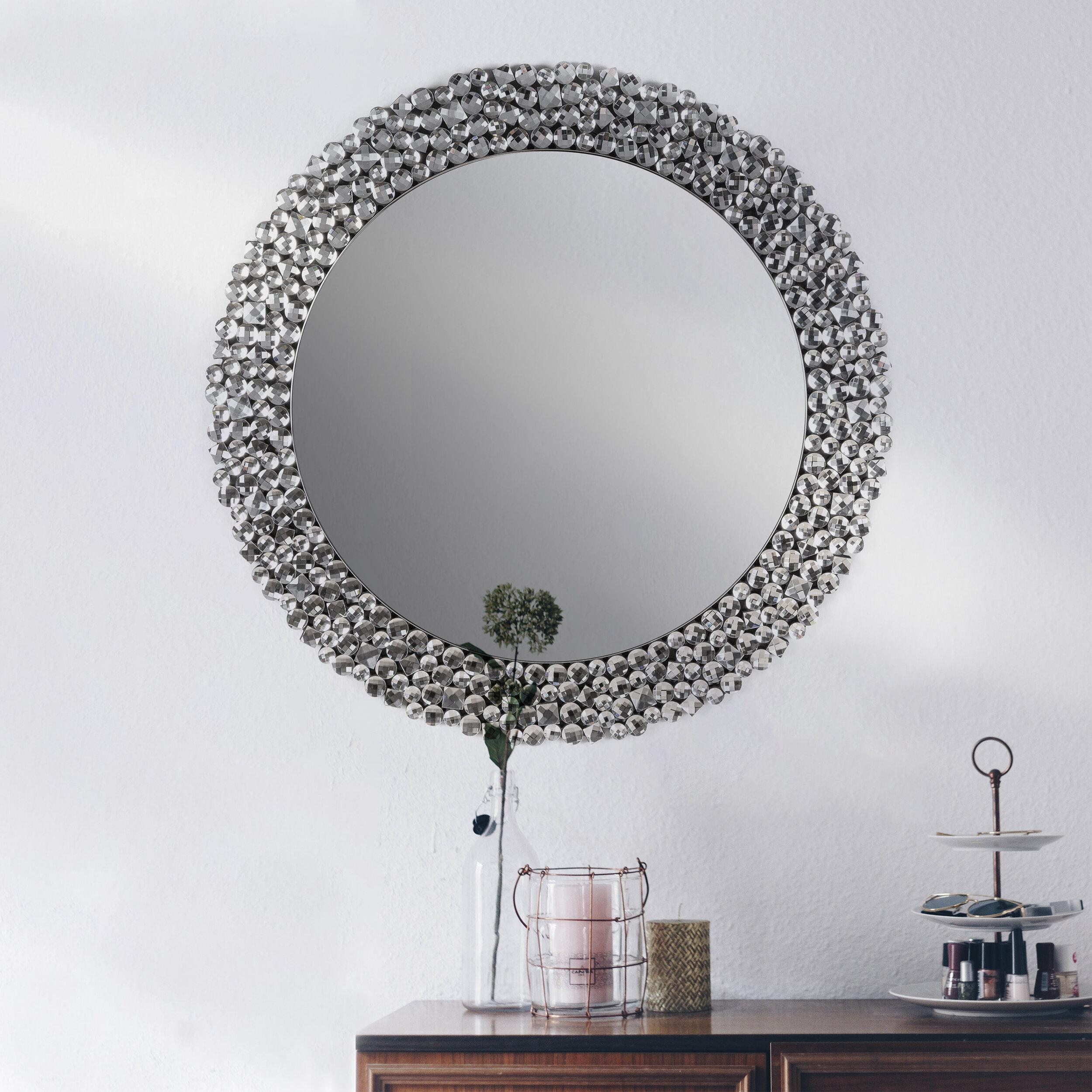 Pedigo Beveled Venetian Wall Mirror Pertaining To Point Reyes Molten Round Wall Mirrors (Image 9 of 20)