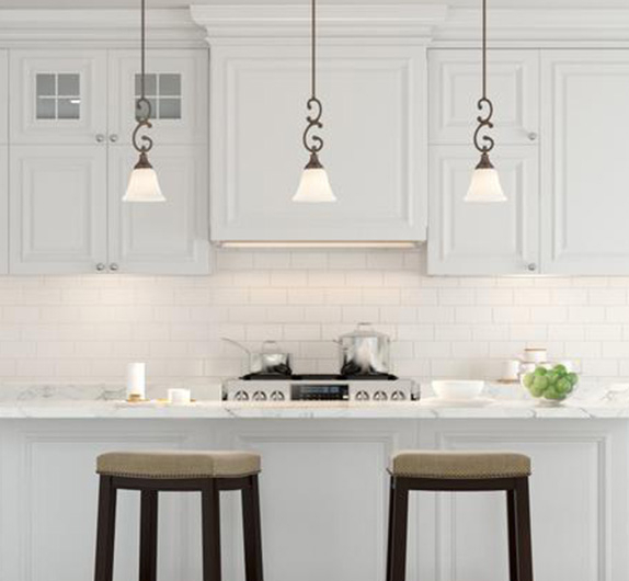 Pendant Lights – Lighting – The Home Depot Intended For Jefferson 4 Light Kitchen Island Linear Pendants (View 25 of 25)