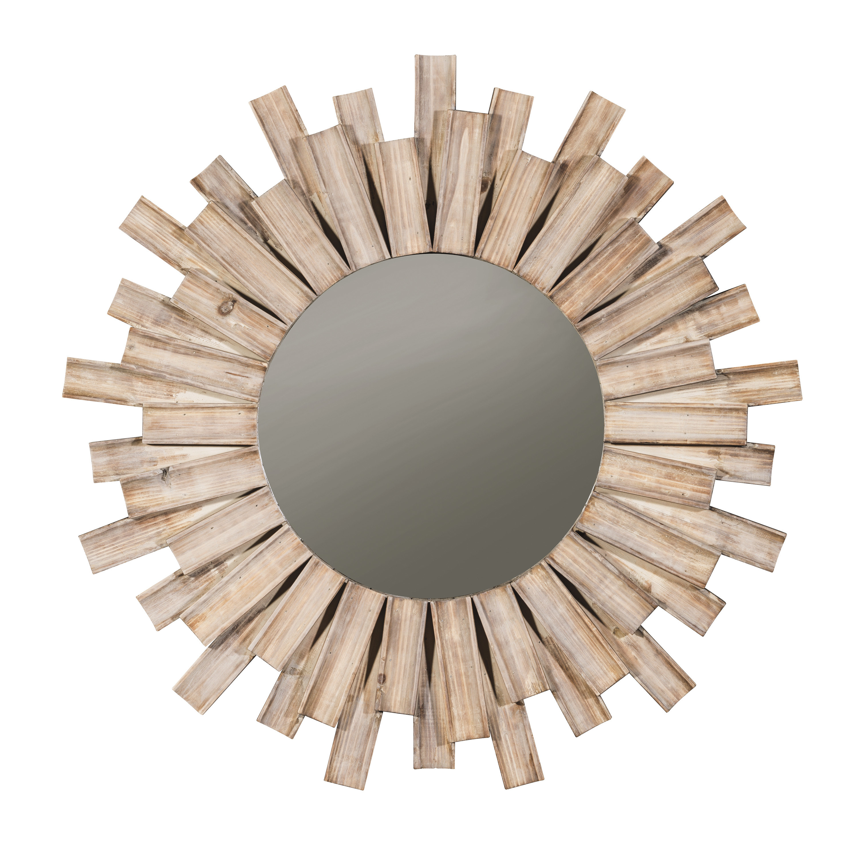 Perillo Burst Wood Accent Mirror & Reviews | Joss & Main Pertaining To Laurel Foundry Modern & Contemporary Accent Mirrors (View 13 of 20)