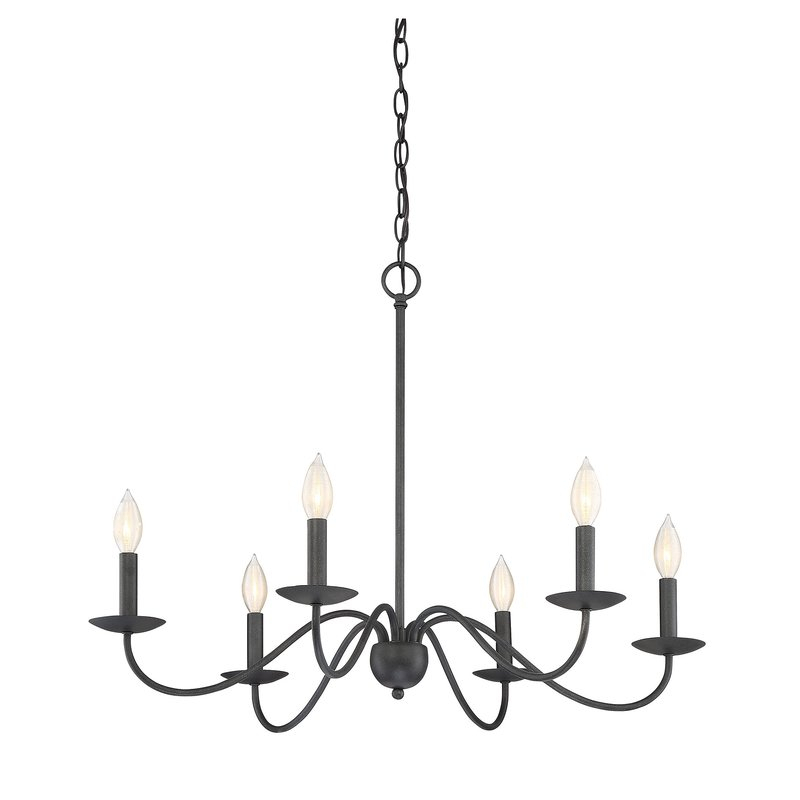 Perseus 6 Light Candle Style Chandelier Pertaining To Perseus 6 Light Candle Style Chandeliers (View 2 of 20)