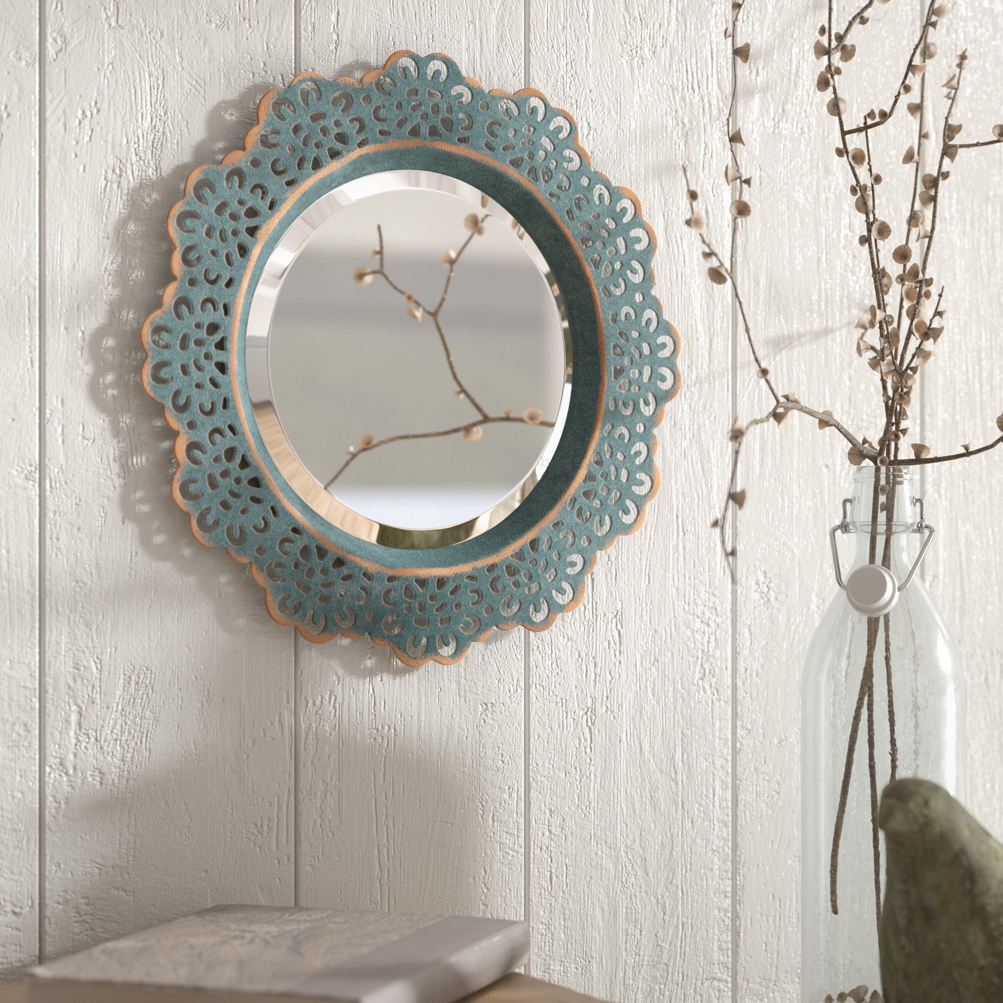 Pettine Metal Lace Accent Wall Mirror Throughout Arrigo Accent Mirrors (View 3 of 20)