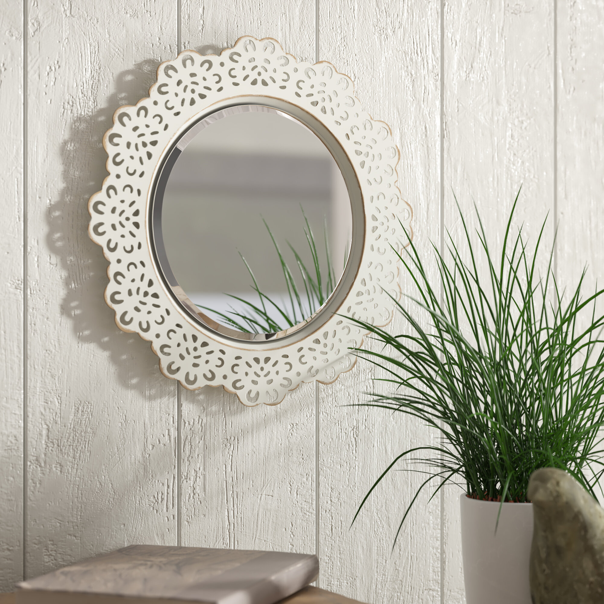 Pettine Metal Lace Accent Wall Mirror With Regard To Arrigo Accent Mirrors (View 7 of 20)