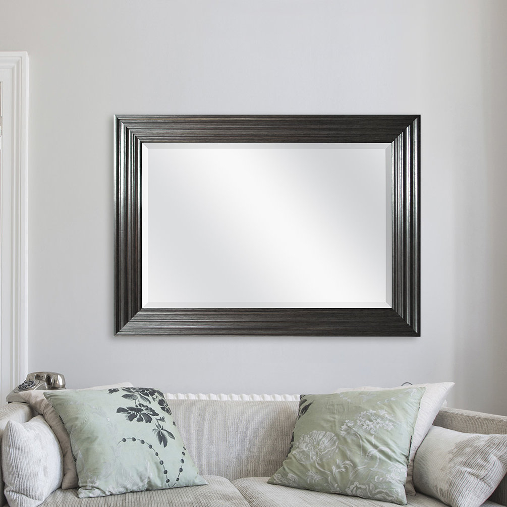 Pewter Mirror | Wayfair With Regard To Rectangle Pewter Beveled Wall Mirrors (Image 16 of 20)