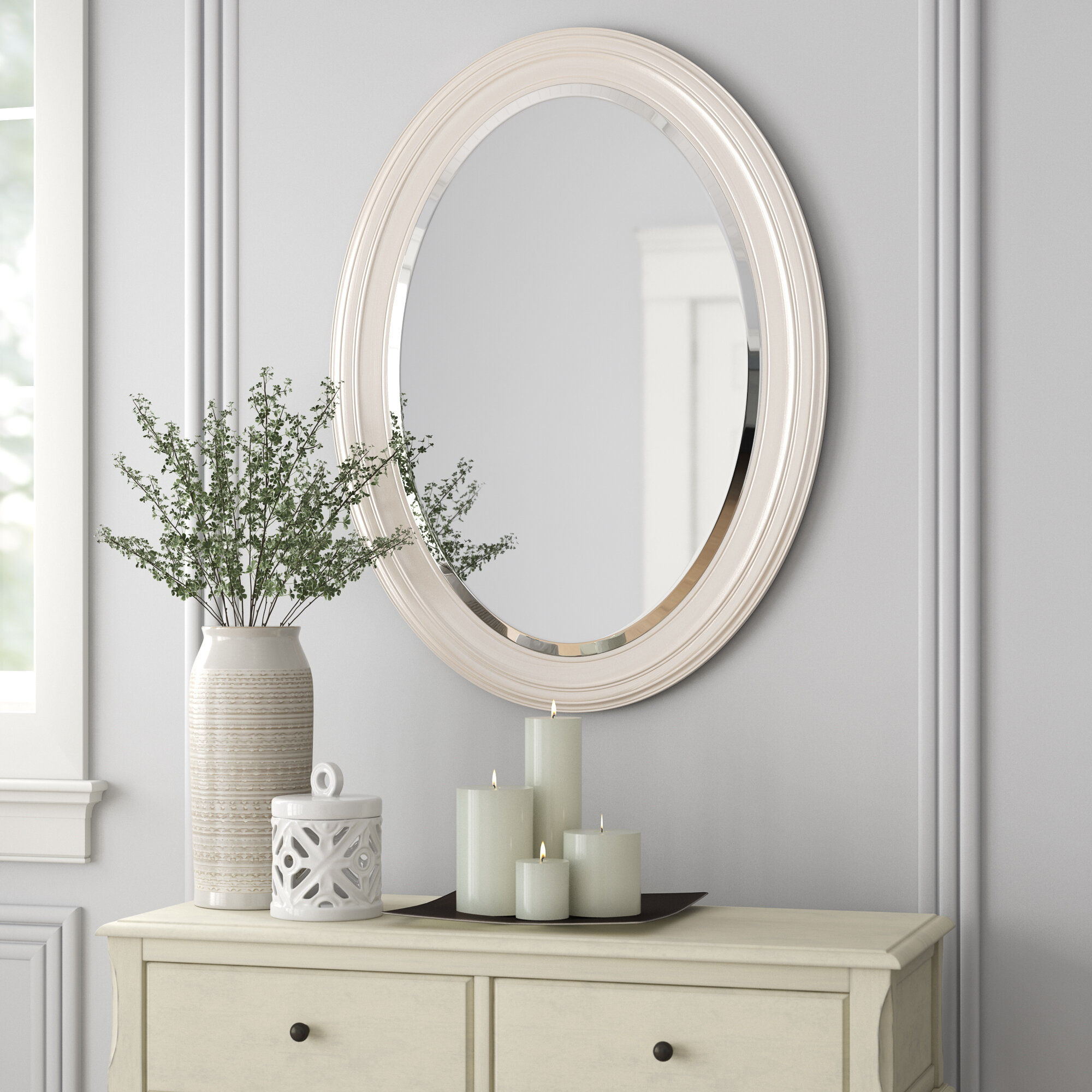Pfister Oval Wood Wall Mirror In Burnes Oval Traditional Wall Mirrors (Image 16 of 20)