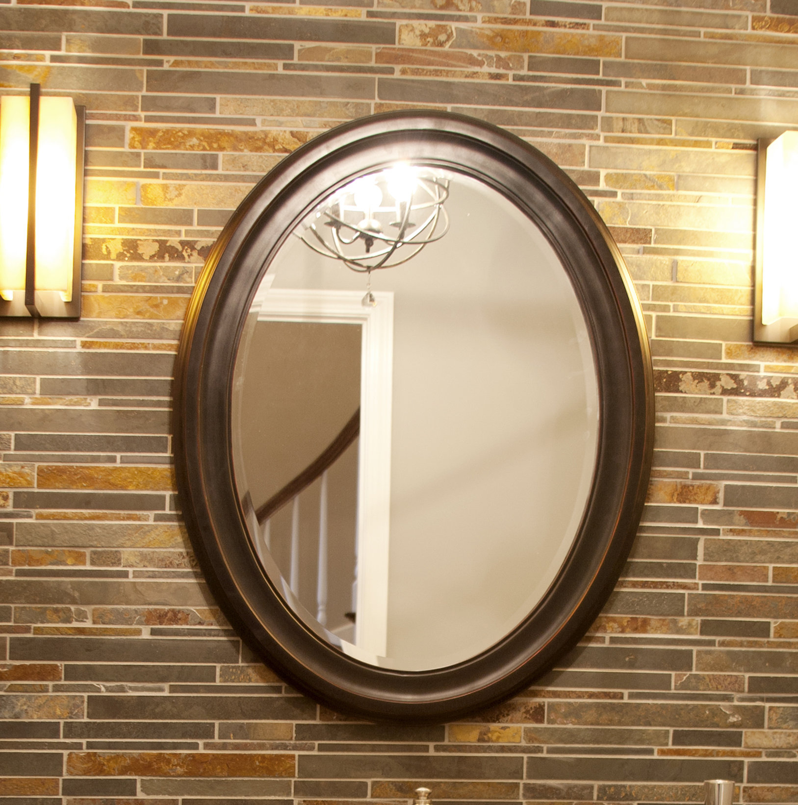 Pfister Oval Wood Wall Mirror Regarding Charters Towers Accent Mirrors (Image 16 of 20)
