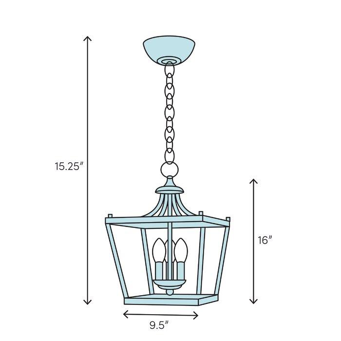 Pinecrest 3 Light Lantern Geometric Pendant Within Leiters 3 Light Lantern Geometric Pendants (View 15 of 20)