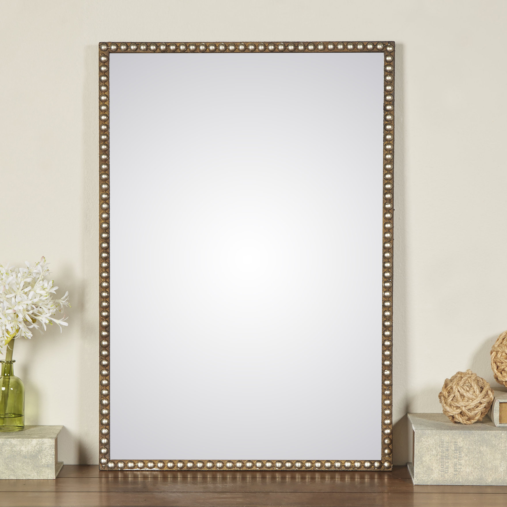 Pioche Traditional Wall Mirror Throughout Lake Park Beveled Beaded Accent Wall Mirrors (View 7 of 20)