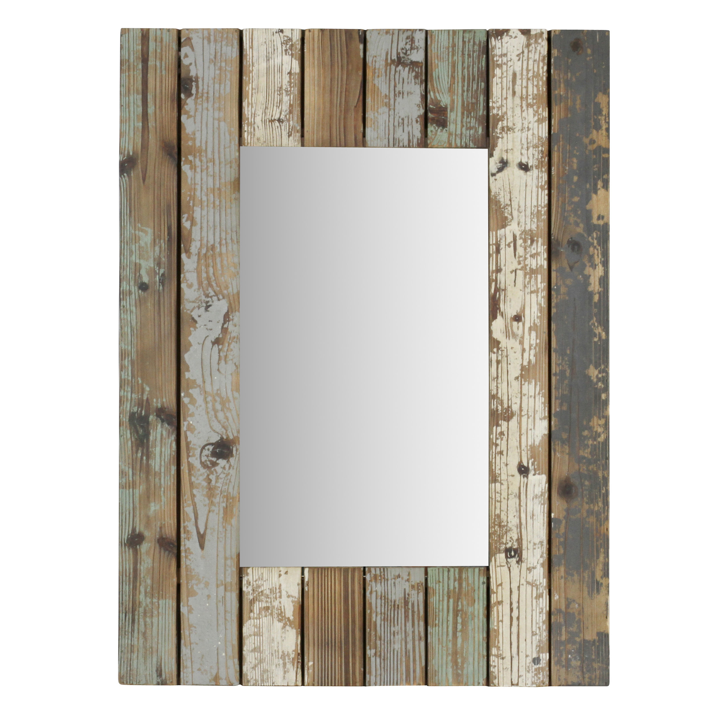 Pires Farmhouse Wall Mirror For Janie Rectangular Wall Mirrors (Image 11 of 20)
