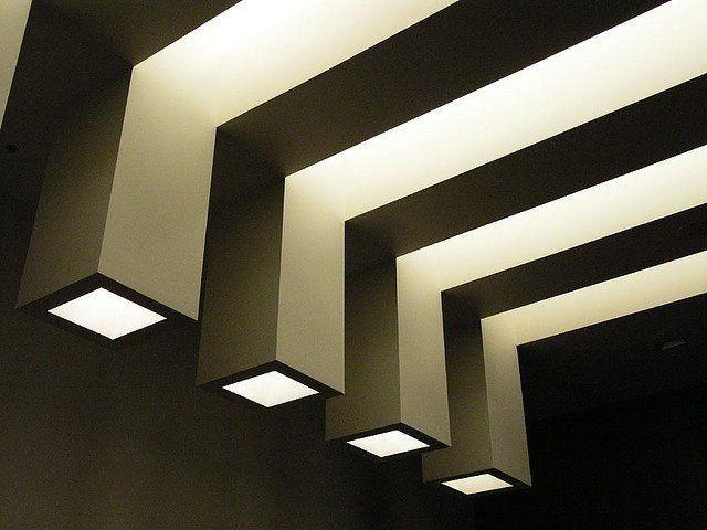 Plafon Luminoso   Plafones   Diseño De Iluminación With Dilley 1 Light Unique / Statement Geometric Pendants (Image 19 of 25)